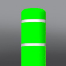 "8-7/8""x65"" Lime Green/White Tape Dinged"