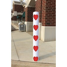 Bollard Cover Sox - Valentines