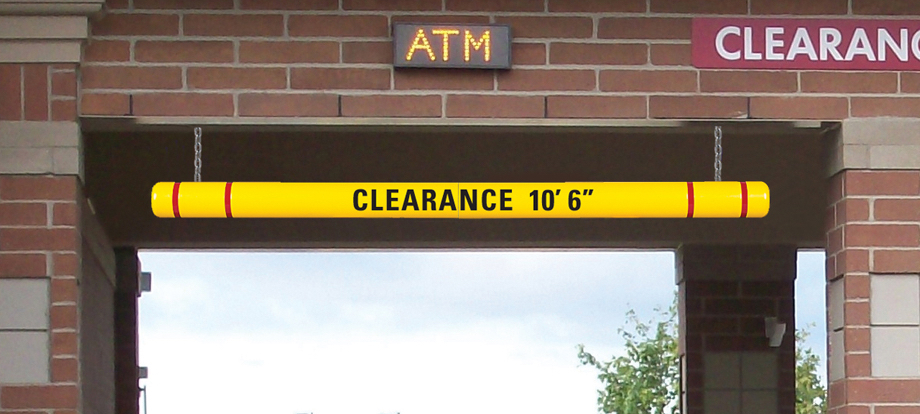 Clearance Bars Height Guard Max Clearance Sign